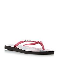 Havaianas - Black '4129848' slim  floral print flip flops
