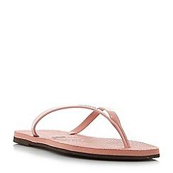 Havaianas - Pink '4135102' slim metallic strap flip flops