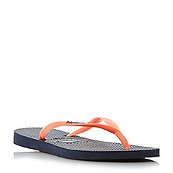 Havaianas - Navy '4119787' colour pop slim logo detail flip flops