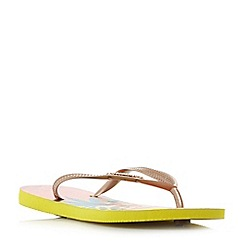 Havaianas - Yellow '4122111' slim tropical flip flops