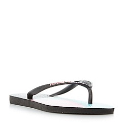 Havaianas - Black '4136845' colour block flip flops