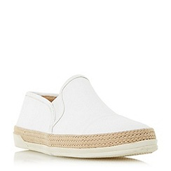 Roberto Vianni - White 'Ester' espadrille trim slip on shoes