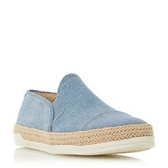 Roberto Vianni - Blue 'Ester' espadrille trim slip on shoes