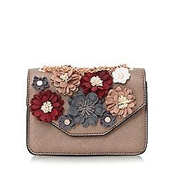 Dune - Bronze 'Serafina-micro' floral applique micro bag