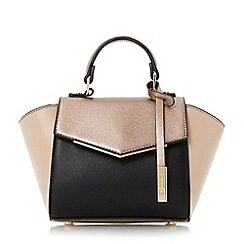 Dune - Black 'Sandy-micro' winged envelope front micro bag