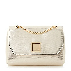 Dune - Gold 'Ellaa' flap over chain strap shoulder bag