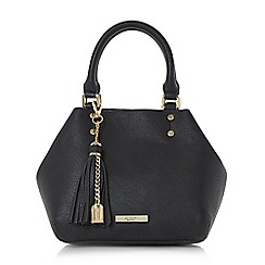 Dune - Black 'Dibbeny' tassel detail top handle bag