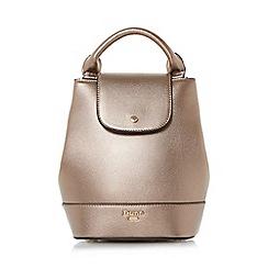 Dune - Bronze 'Dieber' top handle mini backpack bag
