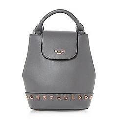 Dune - Grey 'Dieberny' studded mini backpack bag