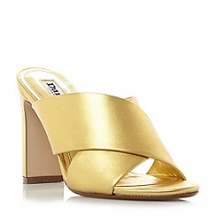 Dune - Gold 'Martey' cross strap vamp mule sandals