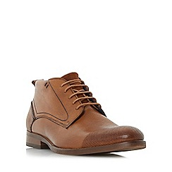 Bertie - Tan 'Conga' perforated toecap lace up boot