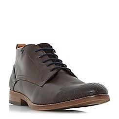 Bertie - Dark brown 'Conga' perforated toecap lace up boot