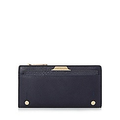 Dune - Navy 'Kerrie' slim purse with removable card holder
