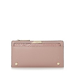Dune - Pink 'Kerrie' slim purse with removable card holder