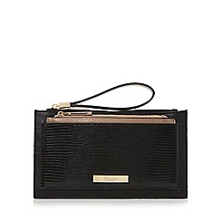 Dune - Black 'Kristell' wristlet with removable pouch