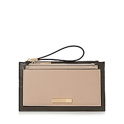 Dune - Grey 'Kristell' wristlet with removable pouch