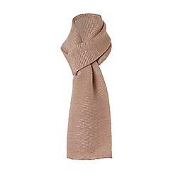 Dune - Rose 'Lucie' metallic pleated scarf