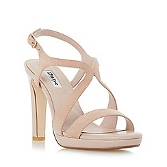 Dune - Light pink 'Maya' strap detail slim platform sandals