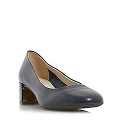 Roberto Vianni - Navy 'Aldridge' comfort block heel court shoes