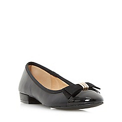 Roberto Vianni - Black 'Hilba' toecap bow trim ballerina shoe