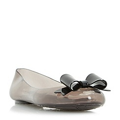 Head Over Heels by Dune - Black 'Hyra' jelly ballerina shoes
