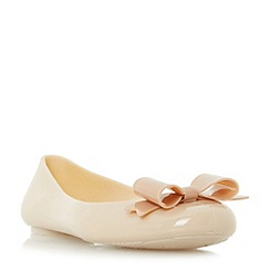Head Over Heels by Dune - Natural 'Hyra' jelly ballerina shoes