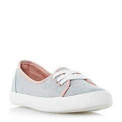 Head Over Heels by Dune - Grey 'Elodi' lace up detail flat shoes