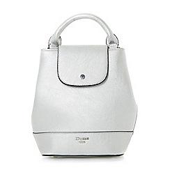 Dune - Silver 'Dieber' top handle mini backpack bag