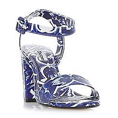 Dune - Blue 'Myko' two part high heel sandals