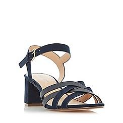 Roberto Vianni - Navy 'Jenner' block heel strappy sandals