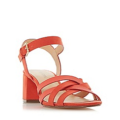 Roberto Vianni - Red 'Jenner' block heel strappy sandals