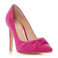 Head Over Heels by Dune - Pink 'Arria' knot detail pointed toe court shoes