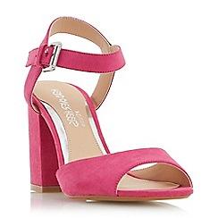 Head Over Heels by Dune - Pink 'Mercii' two part block heel sandals