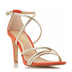 Head Over Heels by Dune - Gold 'Maggda' strappy colour pop high heel sandals