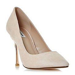Dune - Light pink 'Buds' rose heel court shoes