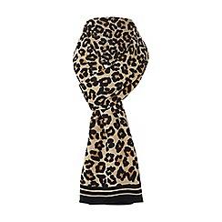 Dune - Multicoloured 'Leo' leopard print scarf