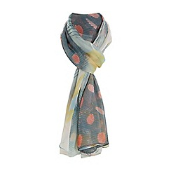 Dune - Multicoloured 'Limore' feather print scarf