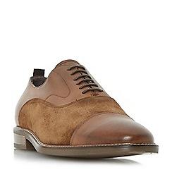 Bertie - Tan 'Pretender' leather and suede toecap detail oxford shoe