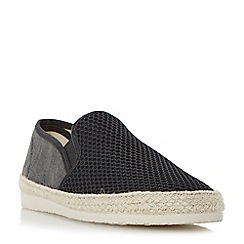 Dune - Black 'Finchley' mesh and canvas espadrille shoes