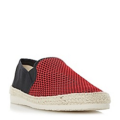 Dune - Red 'Finchley' mesh and canvas espadrille shoes