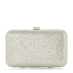 Dune - Gold 'Bsarah' hard case box clutch bag