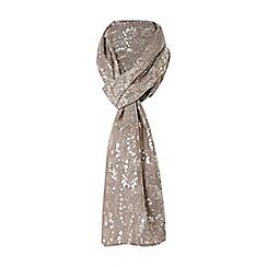Dune - Light pink 'Lorelle' metallic snake print scarf