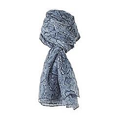 Dune - Blue 'Lazura' silk snake print scarf