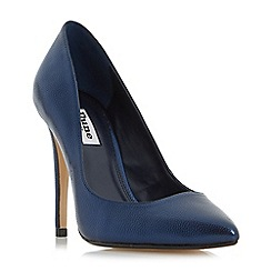 Dune - Navy 'Aiyana' pointed toe high heel court shoes