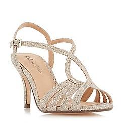 Roland Cartier - Gold 'Mandarin' strappy mid heel sandals