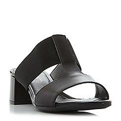 Roberto Vianni - Black 'Joyford' comfort block heel mule sandals