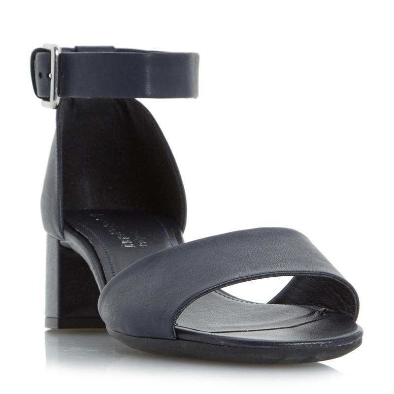 Debenhams Leather Navy Block Heel Shoes