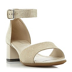 Roberto Vianni - Gold 'Iden' comfort two part block heel sandals