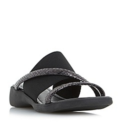 Roberto Vianni - Black 'Ladock' comfort elasticated mule sandals