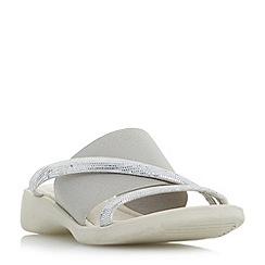 Roberto Vianni - Silver 'Ladock' comfort elasticated mule sandals